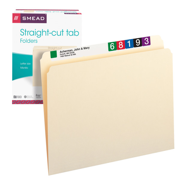Smead 10300 Manila Folders (Bundle: 5 BX) File Folders