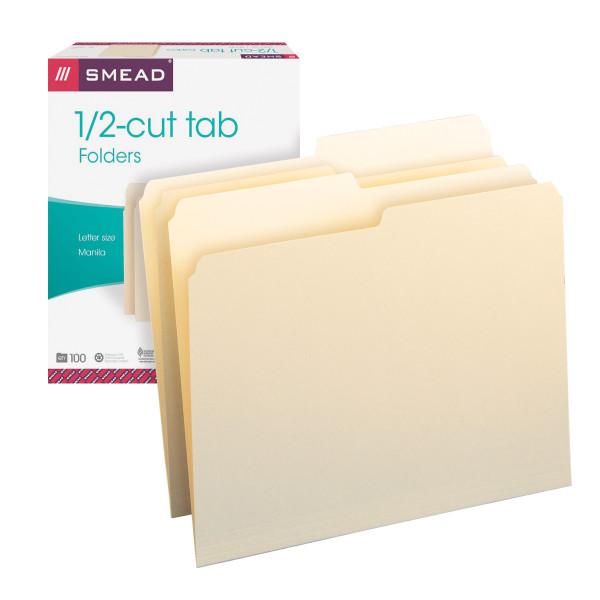Smead 10320 Manila Folders (Bundle: 5 BX) Out Guides