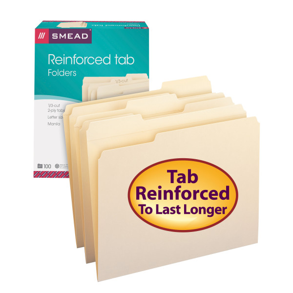 Smead 10334 Manila Folders with Reinforced Tab (Bundle: 5 BX) Report Cover