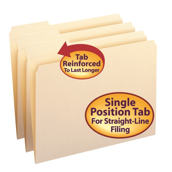 Smead 10335 Manila Folders with Reinforced Tab (Bundle: 5 BX) Report Cover