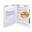 Smead 14513 Manila Fastener Folders with Reinforced Tab 1 box