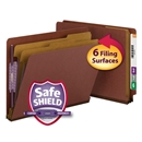 Smead 26860 End Tab Classification Folders with SafeSHIELD Coated Fastener Technology 1 box