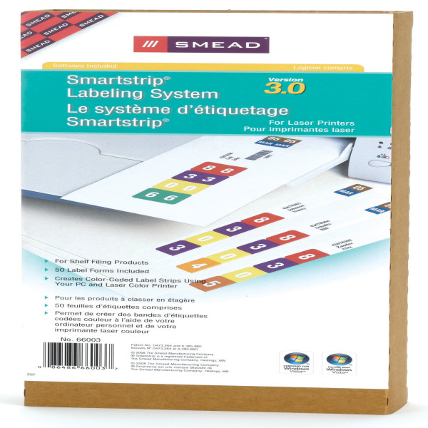Smead 66003 Smartstrip Labeling System Hanging Classification Folders