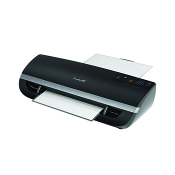 "Swingline Fusion 5000L 12"" Laminator, 1 Minute Warm-up, 3-10 Mil swingline, black, fusion 5000l 12 laminator, hot laminator, 3 mil to 10 mil, swingline, hot, 32 ftm, pouch, 1 minute, swi1703077, 033816500297, 44102801"