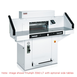"Triumph 5560 LT Automatic-Programmable 21-5/8"" Paper Cutter with Safety Light Beams,Front & Rear Air Tables Triumph 5560 LT Automatic-Programmable 21-5/8"" Paper Cutter with Safety Light Beams,Front & Rear Air Tables"
