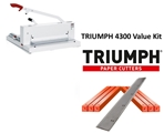 Triumph 4300 Manual Ream Paper Cutter Value Kit with 1 box cutting sticks and 1 extra blade Triumph 4300 Manual Ream Paper Cutter Value Kit with 1 box cutting sticks and 1 extra blade