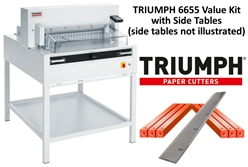"Triumph 6655 Automatic-Programmable 25.5"" Paper Cutter Value Kit with 1 box cutting sticks and 1 extra blade Triumph 6655 Automatic-Programmable 25.5"" Paper Cutter Value Kit with 1 box cutting sticks and 1 extra blade"