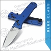 "Benchmade 535 Bugout AXIS Folding Knife 3.24"" S30V Satin Plain Blade, Blue Grivory Handles"