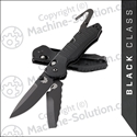 "Benchmade 365BK Outlast Dual Blade Rescue Tactical 3.59"" Combo Black Knife"