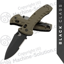 "Benchmade 980SBK Turret Axis Lock, 3.70"" CPM-S30V Serrated Black Blade, Olive Drab G10 handles"