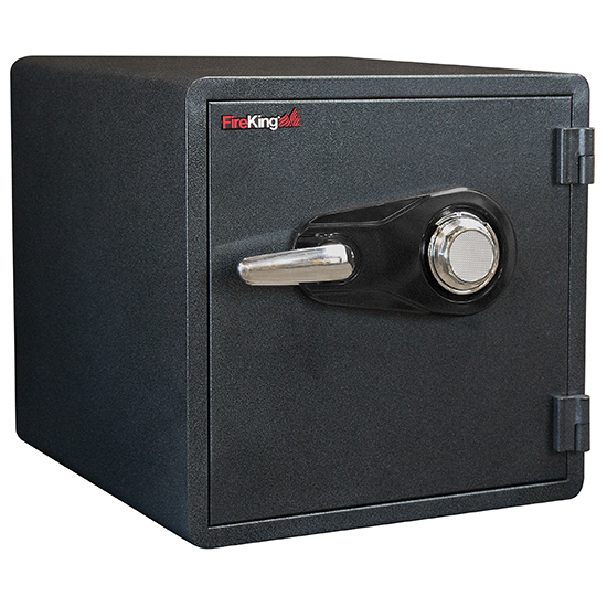 FireKing KY1313-1GRCL Combo Dial Fire Proof Business Safe, 4 Locking Bolts  - KY1313-1GRCL