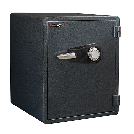 FireKing KY1915-1GRCL Combo Dial Fire Proof Business Safe, 6 Locking Bolts - KY1915-1GRCL