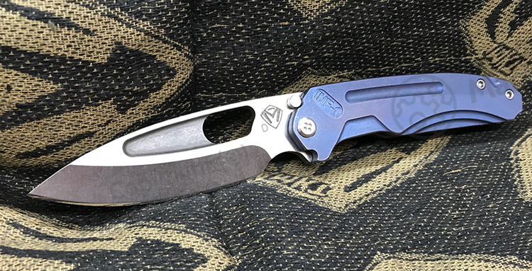 Medford Infraction Limited Edition Satin D2 Blade TI ANO BLUE Handle MK031STQ-37A2-SSCS-Q4