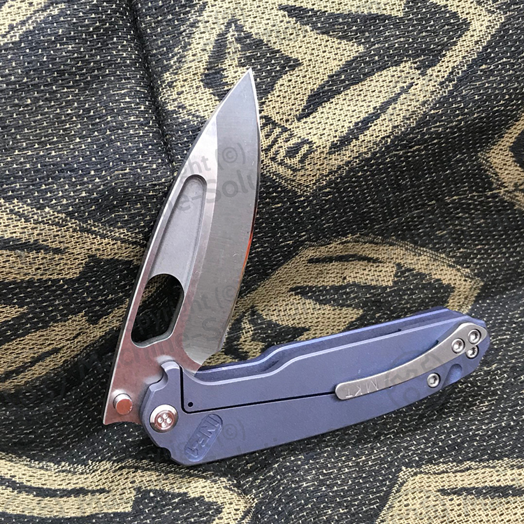 Medford Infraction Limited Edition D2 Blade TI ANO BLUE Handle MK031STQ-37A2-SSCS-Q4 - MK031STQ-37A2-SSCS-Q4