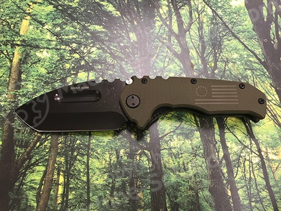 Medford Praetorian Scout D2 PVD Blade Tanto Grind OD Green Handle & Spring Stainless PVD Hardware PVD Clip No Breaker Medford Praetorian Scout D2 PVD Blade Tanto Grind OD Green Handle & Spring Stainless PVD Hardware PVD Clip No Breaker